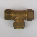 Brass Compression 12mm Microbore Tee Fitting - 24501200